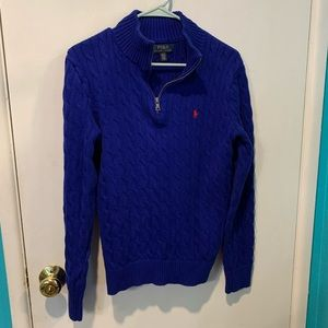 Polo Ralph Lauren cable knit 1/4 zipper